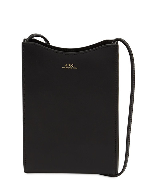 A.P.C. Jamie Leather Neck Pouch in black