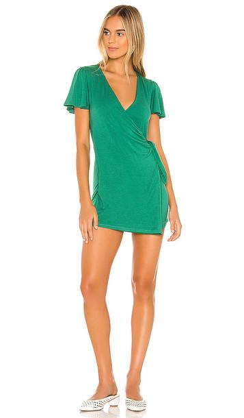 Privacy Please Jessa Mini Dress in Green