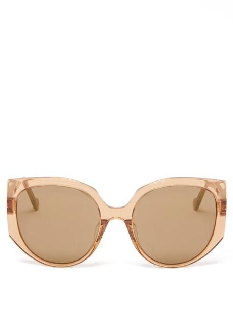 Loewe - Cat-eye Acetate Sunglasses - Womens - Brown