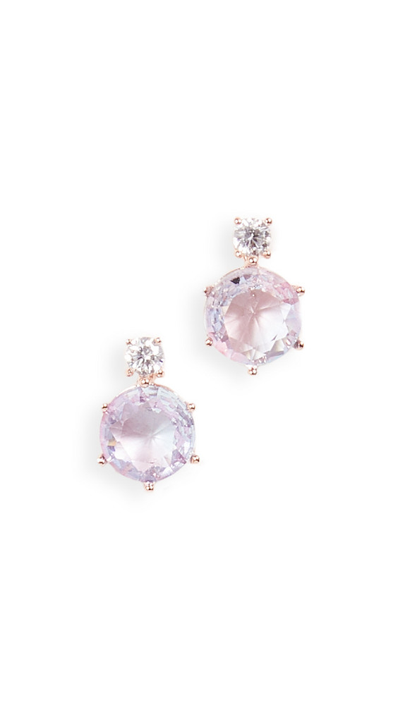Theia Jewelry Aurora Round Cut Stud Earrings in gold / rose