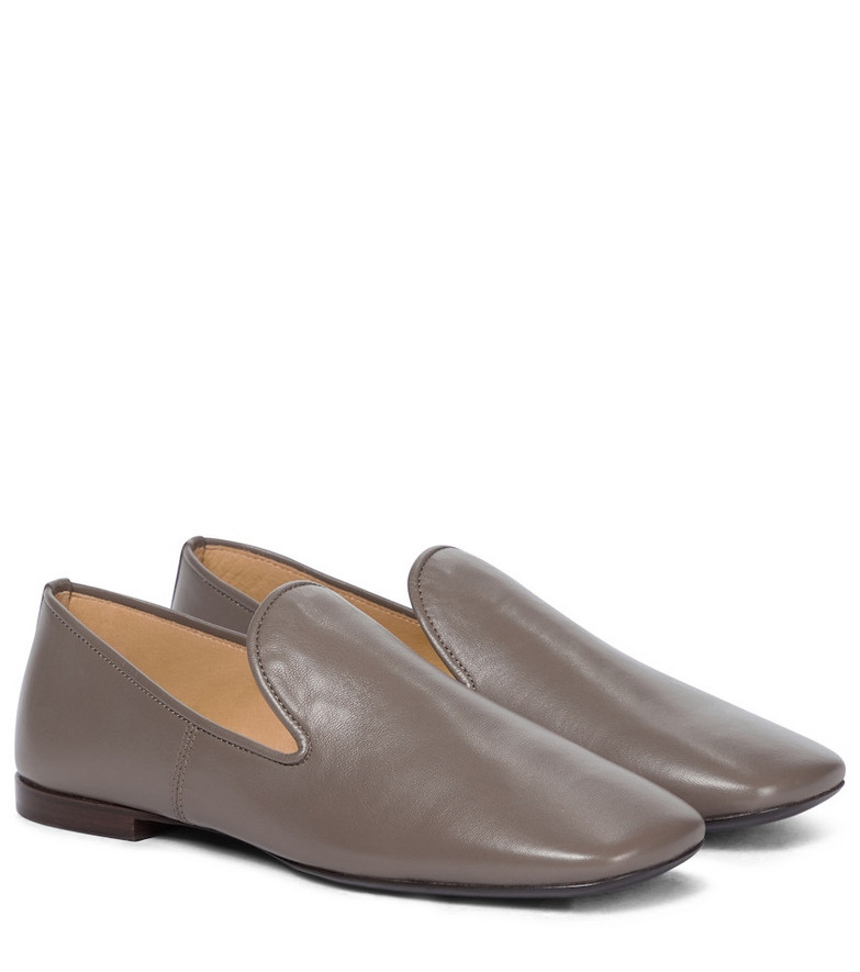 Lemaire Leather loafers in grey