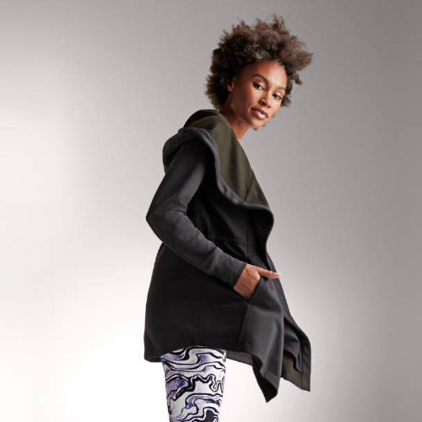 New Balance 91487 Women's Evolve Well Being Hooded Jacket - Black (WJ91487BK)
