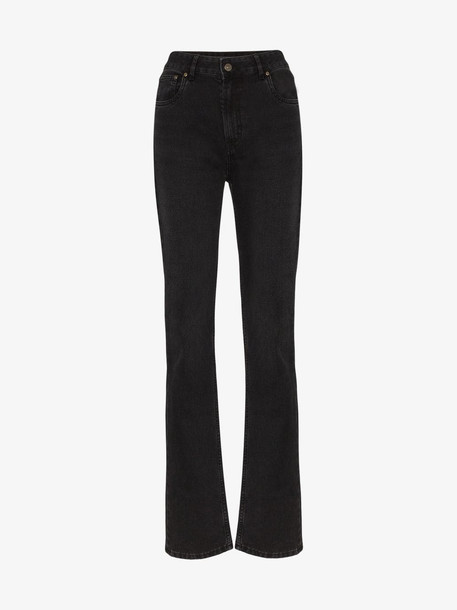Rockins high rise straight leg jeans in black