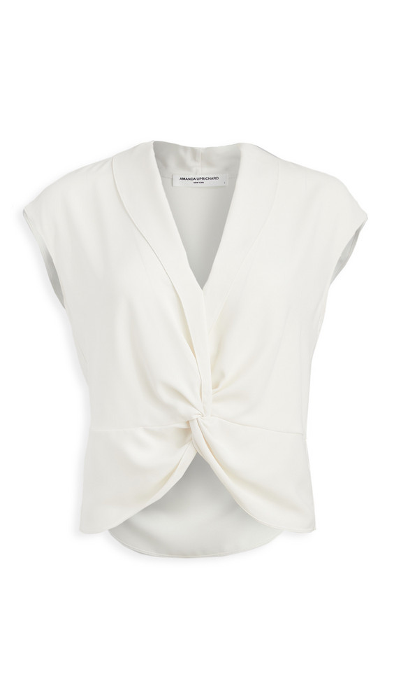 Amanda Uprichard Keely Top in ivory