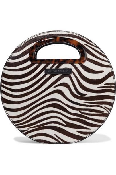 Loeffler Randall - Indy Zebra-print Calf Hair Shoulder Bag - Ivory