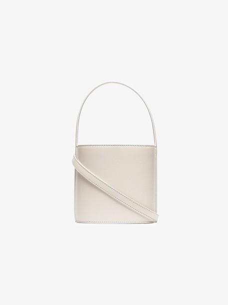 Staud Off-White Bisset Leather Bucket Bag