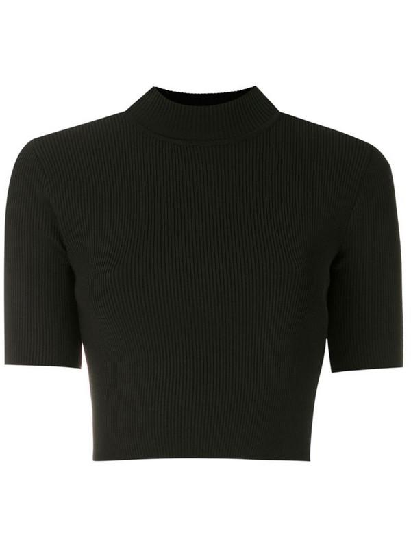 Osklen cropped knit T-shirt in black
