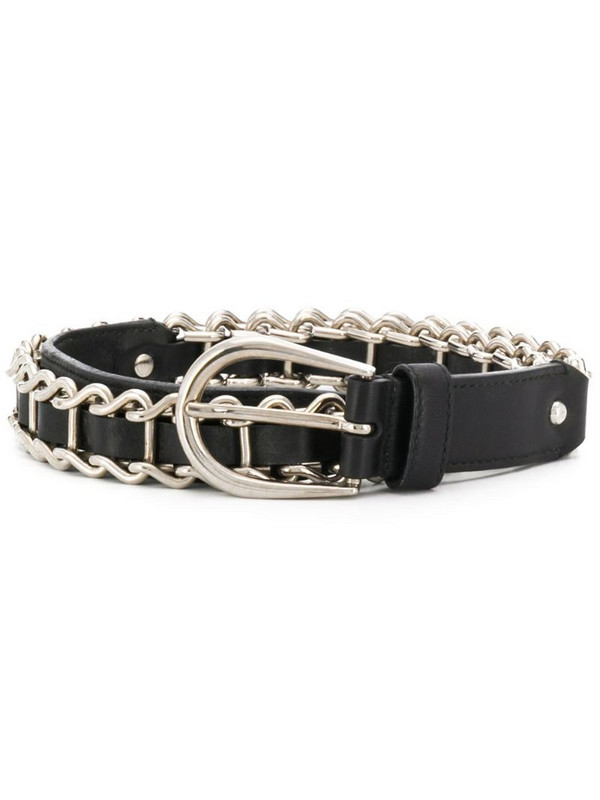 Miu Miu Pre-Owned chain embellished belt in black