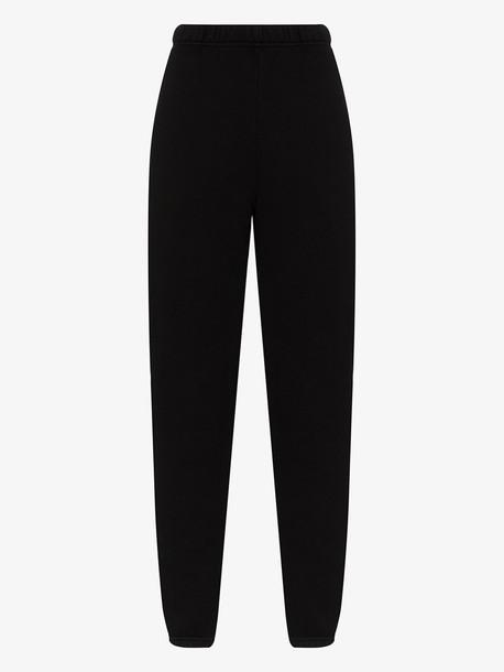 Les Tien classic cotton sweatpants in black