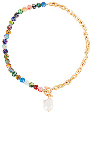 joolz by Martha Calvo Santorini Necklace in Metallic Gold