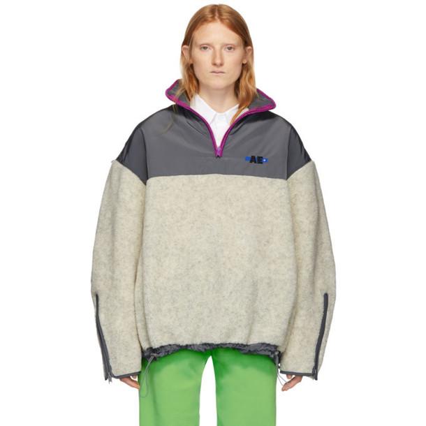 ADER error Grey Fleece Hiker Pullover