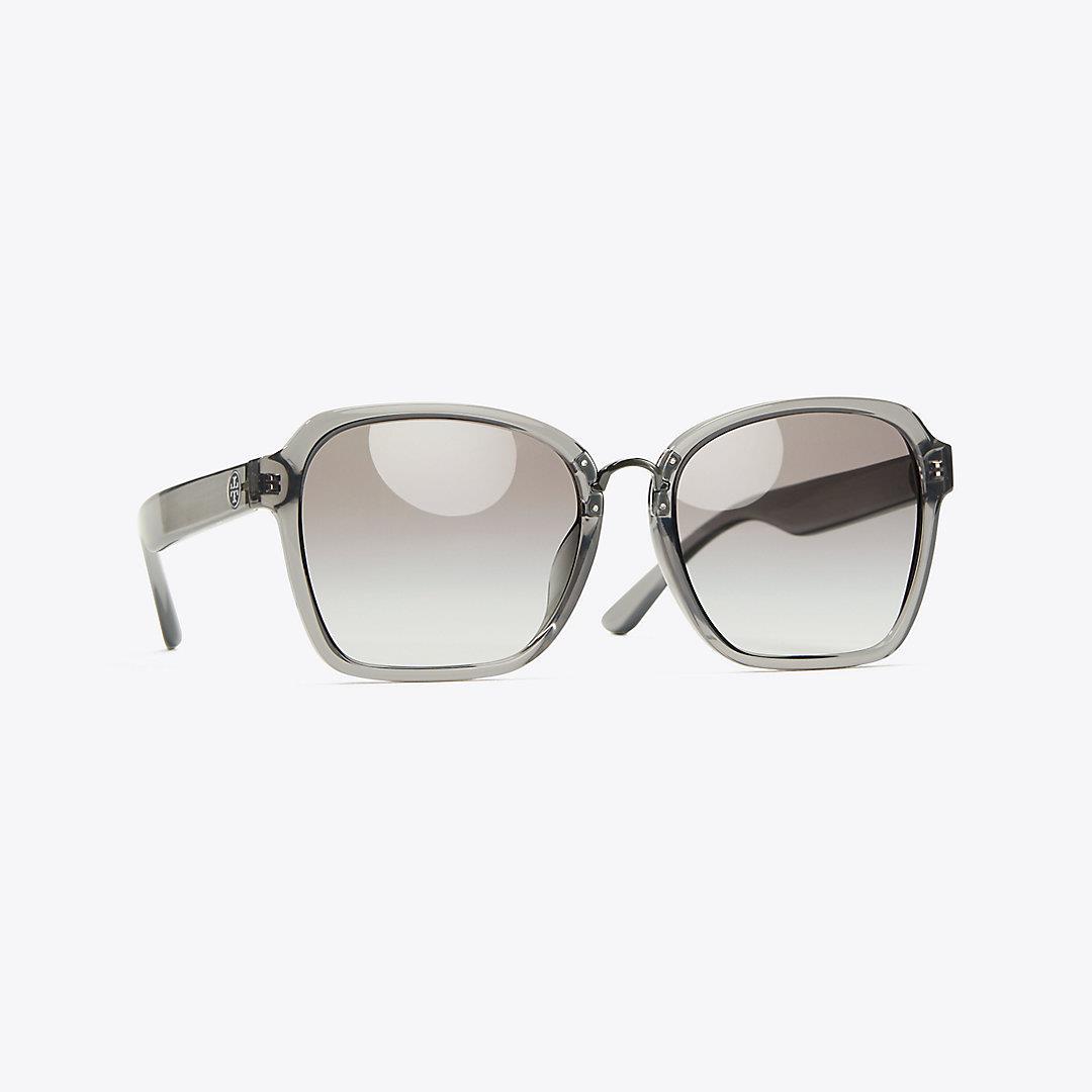 Square Painted-Rim Sunglasses