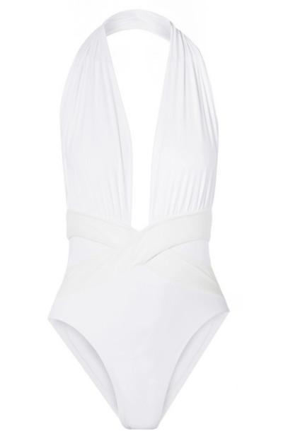OYE Swimwear - Roman Halterneck Swimsuit - White