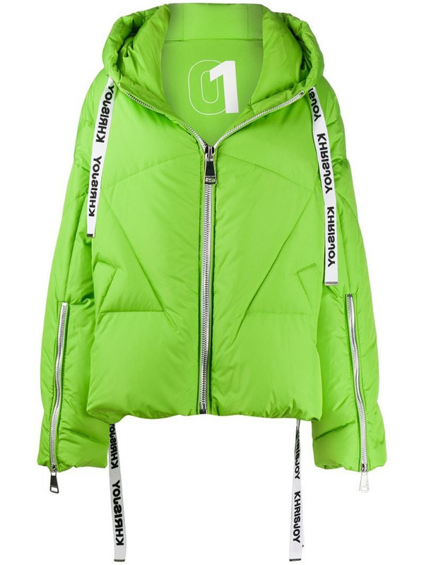 Khrisjoy oversized quilted puffer jacket in green