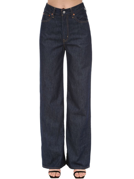 LEVI'S RED TAB Rib Cage High Rise Wide Leg Jeans in blue