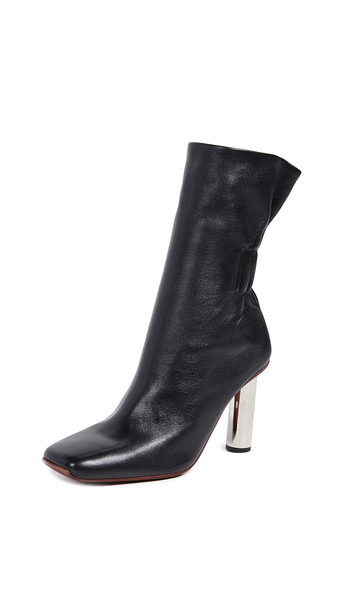 Proenza Schouler Tall Boots in nero / silver
