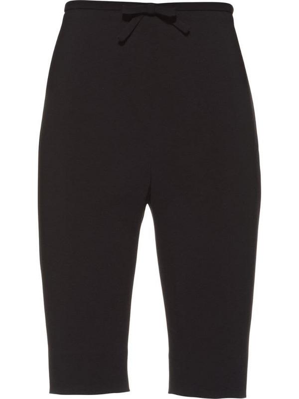 Miu Miu bow detail slim-fit shorts in black