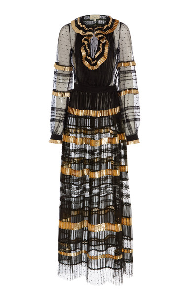Temperley London Phantom Maxi Dress in black