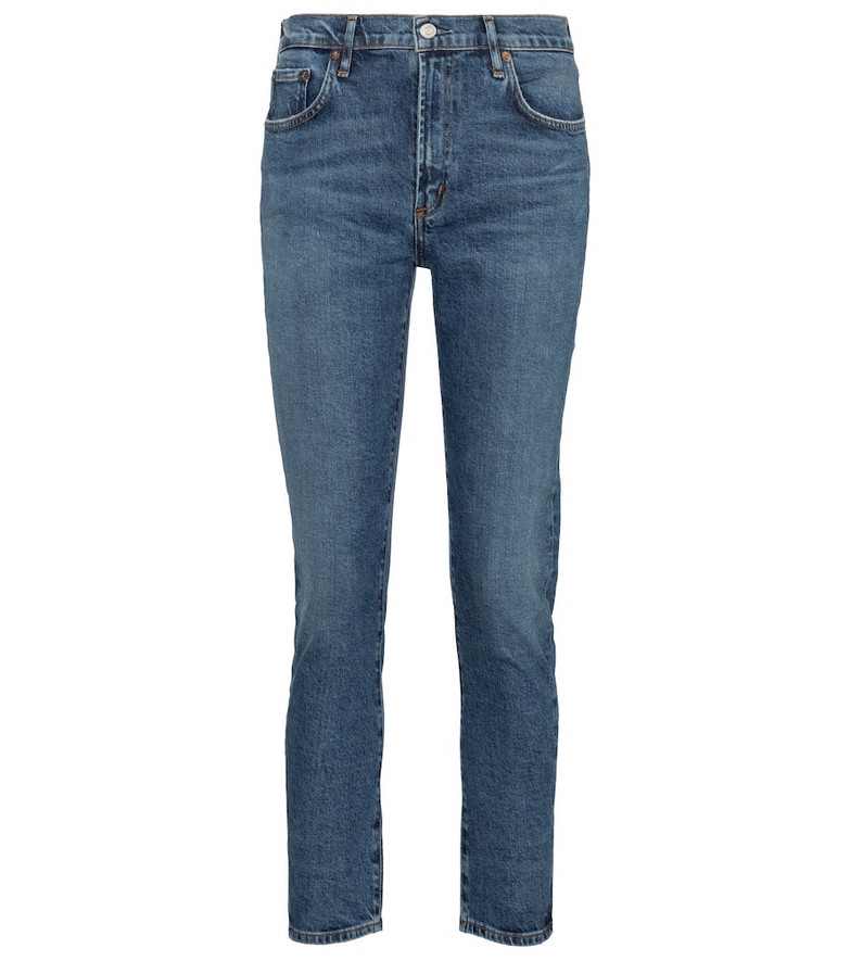 Agolde Toni mid-rise slim jeans in blue
