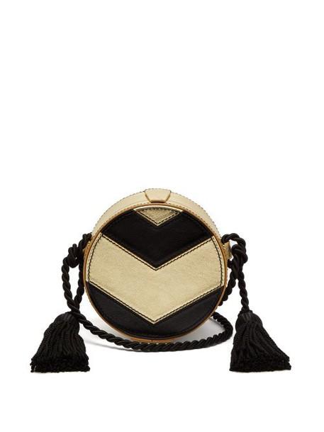 Hillier Bartley - Chevron Collar Box Cross Body Bag - Womens - Black Gold
