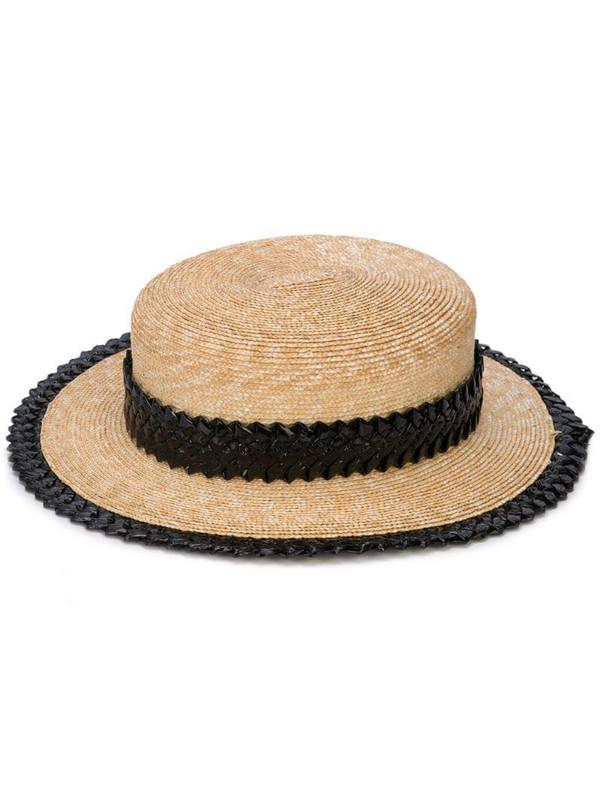 Gigi Burris Millinery small straw hat in brown