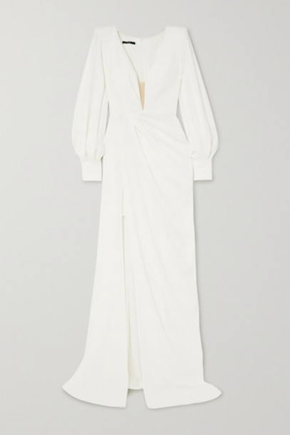 Alex Perry - Clark Draped Crepe Gown - White