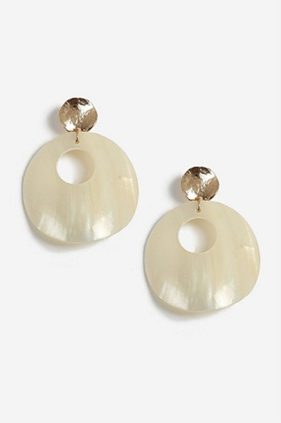 Topshop Large Shell Drop Earrings - Multi