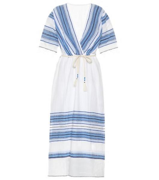 Lemlem Welela cotton-blend kaftan in blue