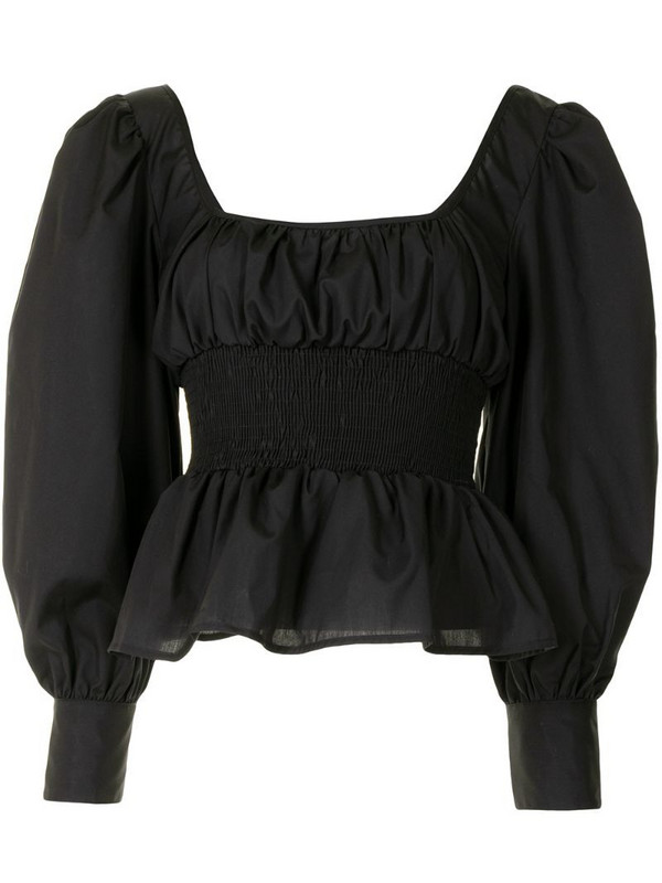 Ciao Lucia elasticated panel blouse in black