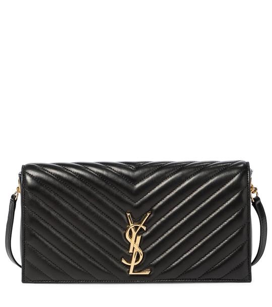 Saint Laurent Kate Baguette leather shoulder bag in black