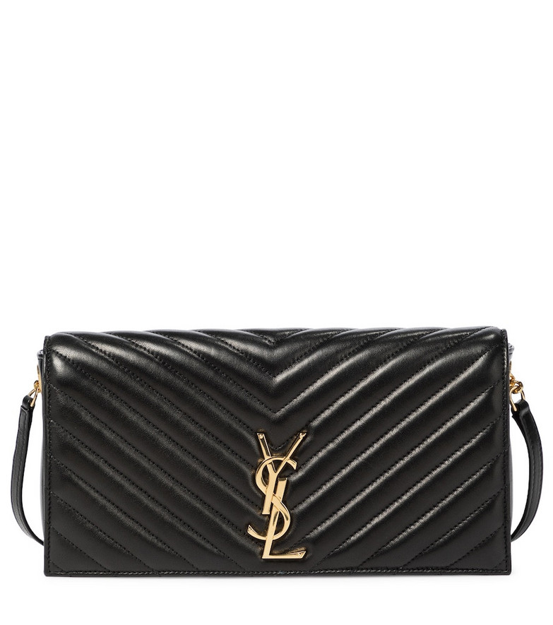 Saint Laurent Kate Baguette leather shoulder bag in black