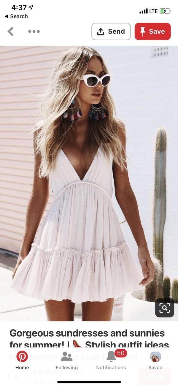 dress white white dress mini dress