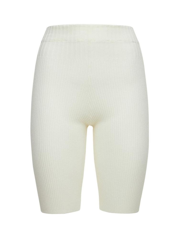 ANDREA ADAMO Viscose Blend Shorts in ivory