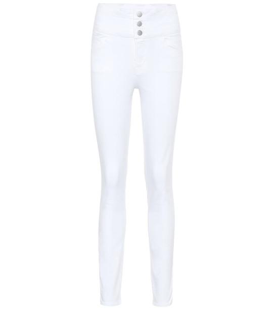 J Brand High-rise skinny jeans in white