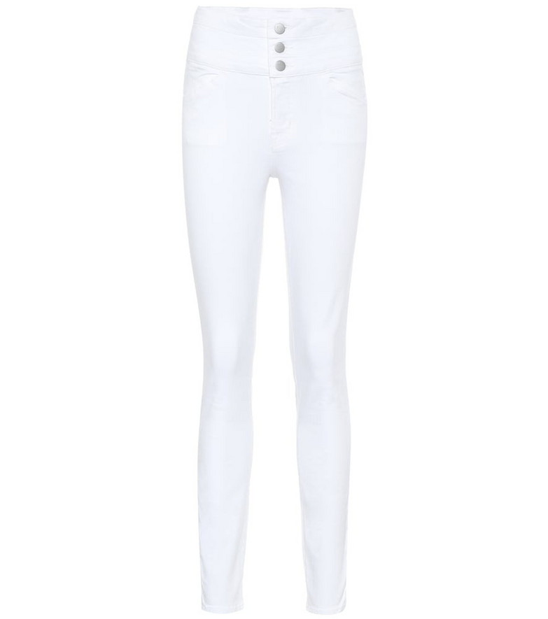 J Brand High-rise skinny jeans in white