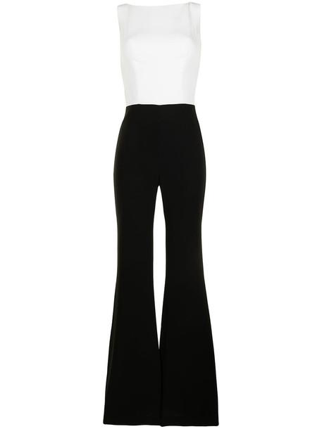 Isabel Sanchis two-tone boat neck jumpsuit - Black