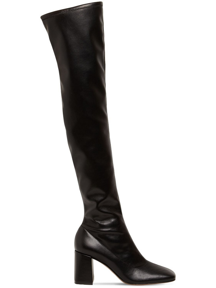 GIANVITO ROSSI 70mm Stretch Faux Leather Tall Boots in black