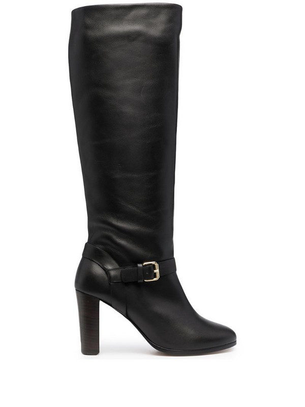 Tila March heeled leather boots in black