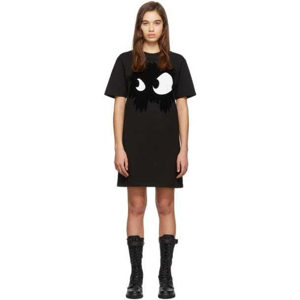 McQ Alexander McQueen Black Mad Chester Dress