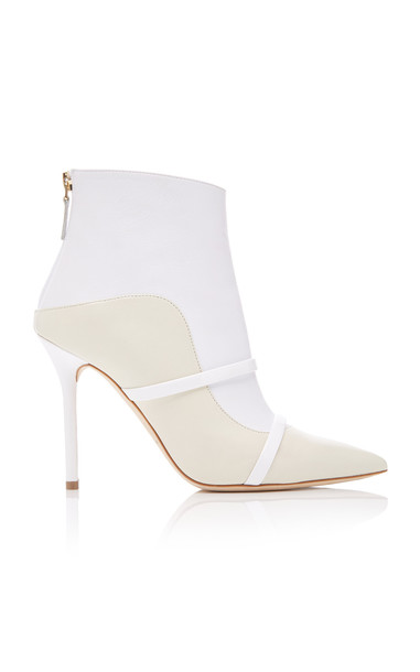 Malone Souliers Madison Leather Ankle Boots in white