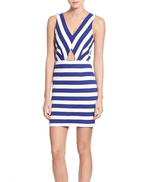 dress striped dress cut-out dress