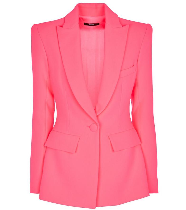 Alex Perry Carter stretch-crêpe blazer in pink
