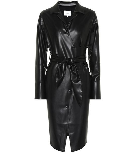 Nanushka Ailsa faux leather wrap dress in black