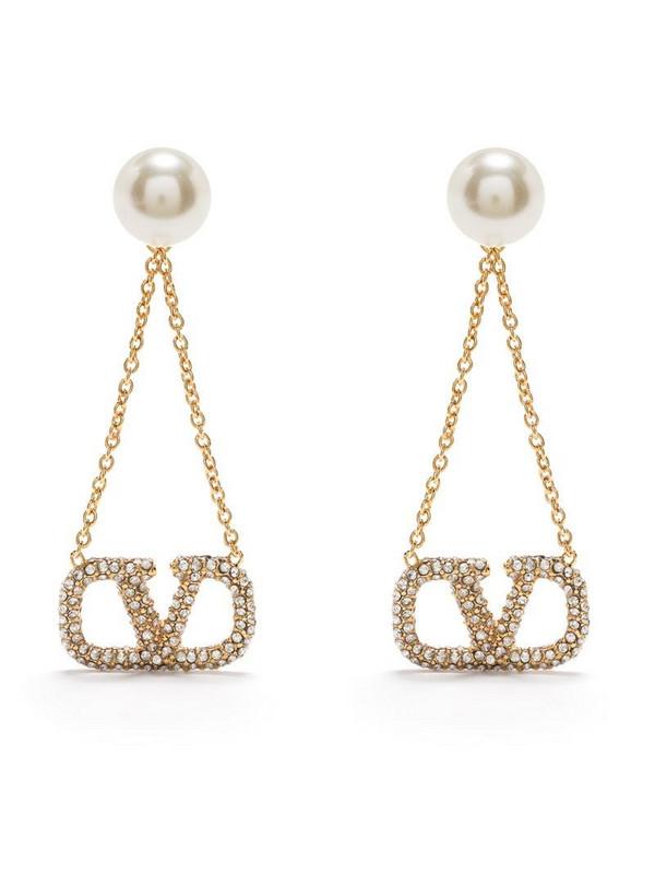 Valentino Garavani VLOGO drop earring in gold