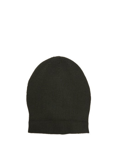 Rick Owens - Ribbed Wool Beanie - Womens - Green