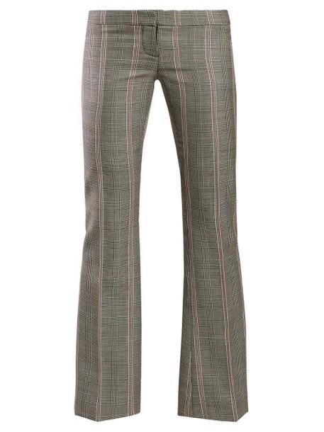 Alexander Mcqueen - Herringbone Wool Trousers - Womens - Grey Multi