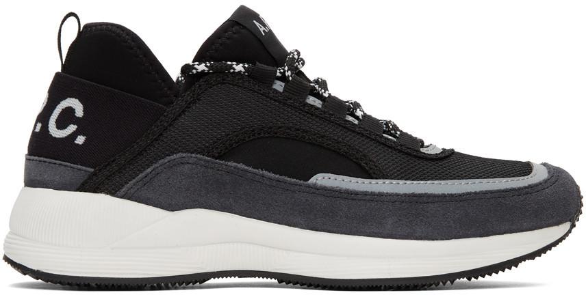 A.P.C. A.P.C. Black Run Around Sneakers