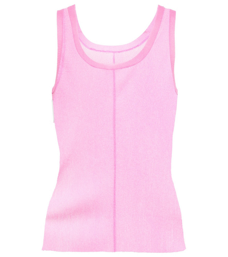 Peter Do Knitted tank top in pink
