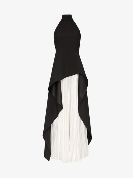 Solace London Lavinia halterneck asymmetric dress in black