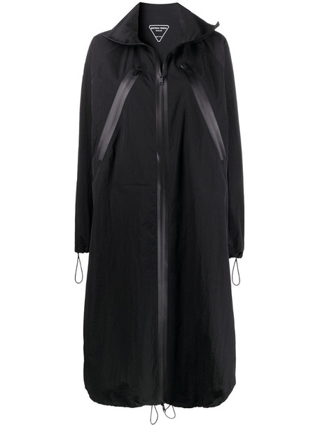 Bottega Veneta loose fit midi coat in black